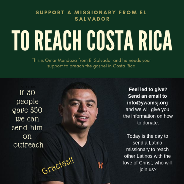 support a missionary from el salvador